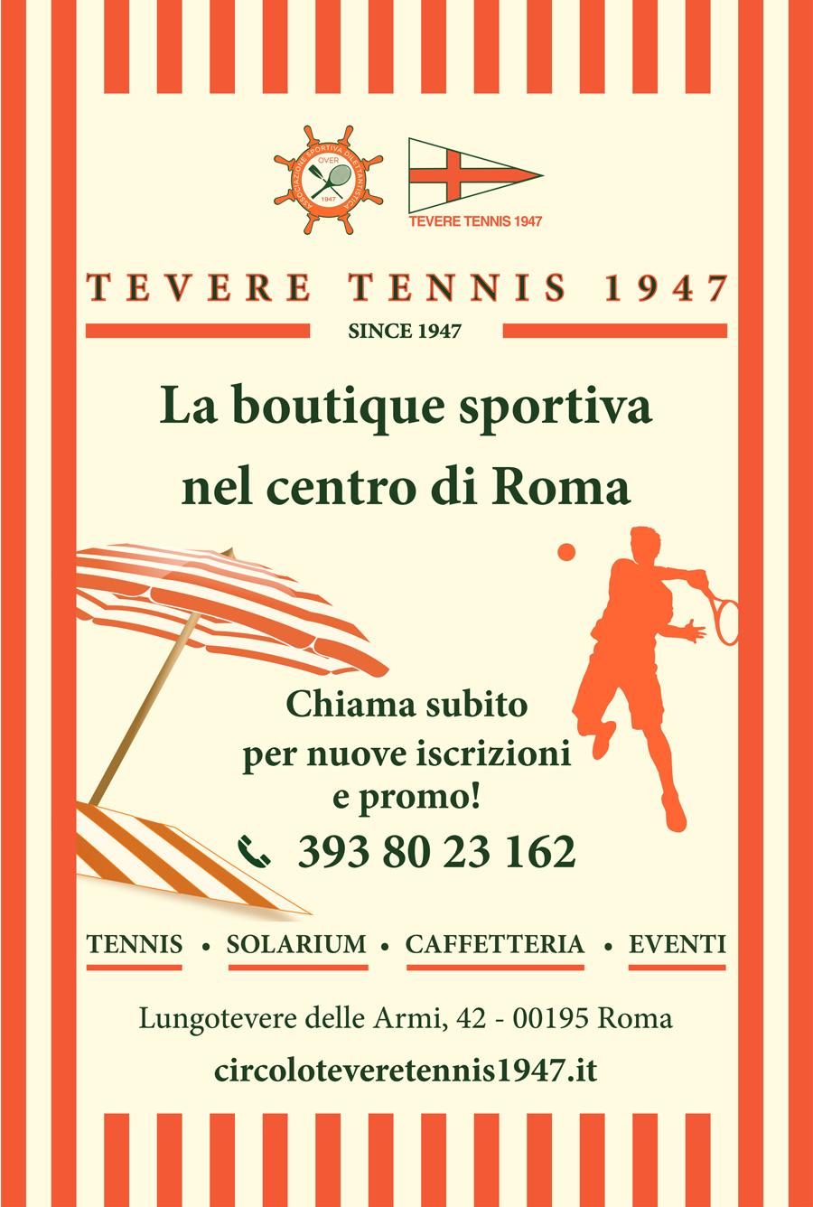 TEVERE TENNIS 1947 La boutique sportiva nel centro di Roma